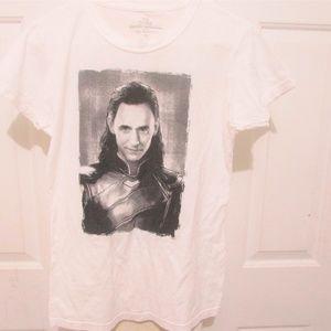 Loki White Tee Shirt Thor Ragnarok Marvel Cotton.